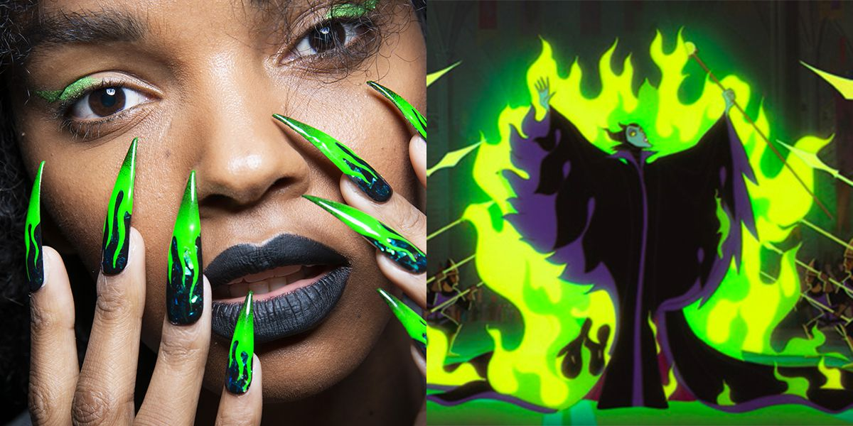 These Disney Villain-Inspired Nails at New York Fashion Week Took 500 Hours to Make