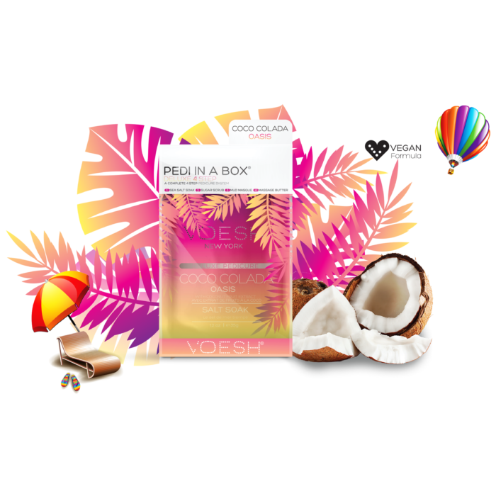 Voesh Launches Pedi in a Box Deluxe 4 Step Coco Colada Oasis